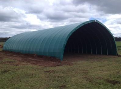 Avion ULM : un tunnel d'hivernage en PVC, un hangar à moindre coût !