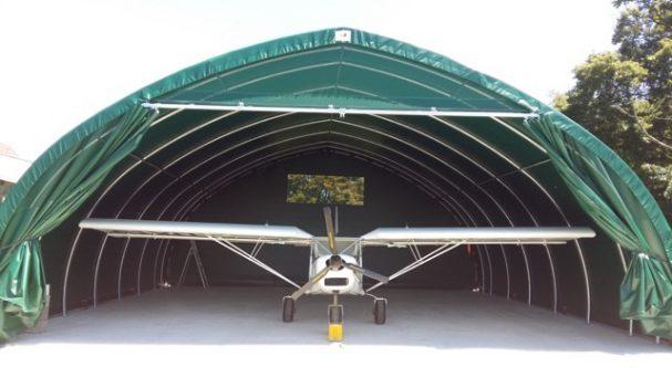 Tunnel de stockage pour servir de hangar à un avion