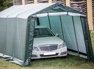 une tente de garage en toile l 39 id e prix r duit pour votre voiture. Black Bedroom Furniture Sets. Home Design Ideas