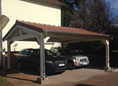 charpente en bois toit double pente