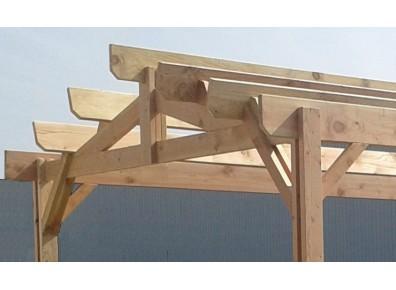 Charpente de charretterie en bois en kit
