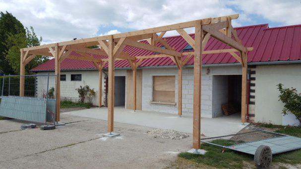 Un auvent bois pour le club des sports de rosny sous bois for Garage citroen rosny sous bois