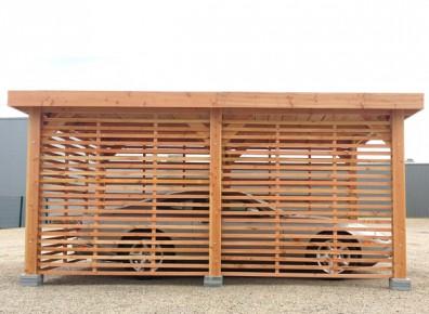 Les claires-voies : l'atout discrétion d'une ossature de carport en bois !