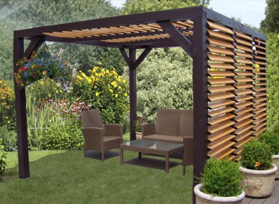 choisir une pergola adoss e ou un abri terrasse toit plat pourquoi. Black Bedroom Furniture Sets. Home Design Ideas