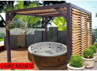 Tonnelle bioclimatique pour faire un abri spa