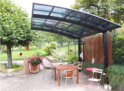 Abri terrasse alu design