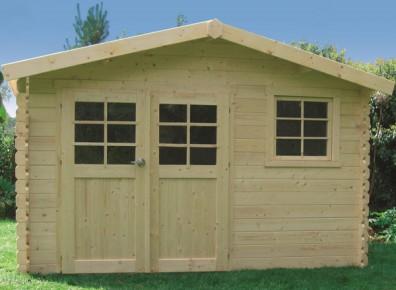 abri de jardin bois kit montage