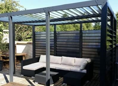 Toit terrasse avec ventelle