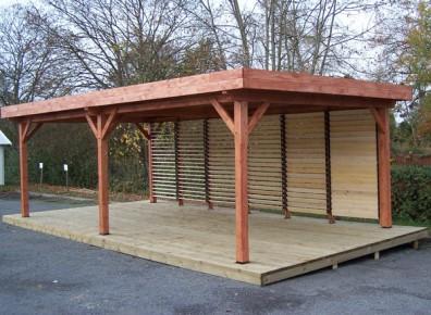 quand l'abri terrasse bois devient carport