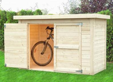 coffre en bois pour vélos