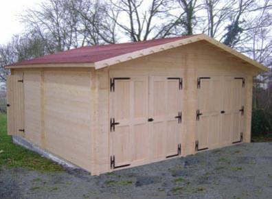 abri garage en kit double livré et monté