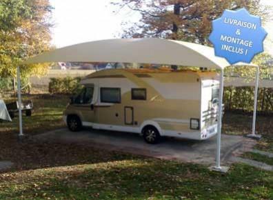 abri camping-car avec montage