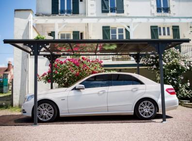 abri voiture aluminium peint