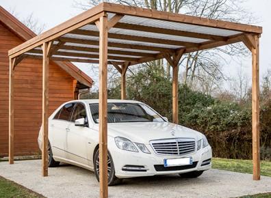abri carport en kit traité et prix réduit