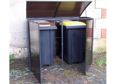 cache poubelle métallique