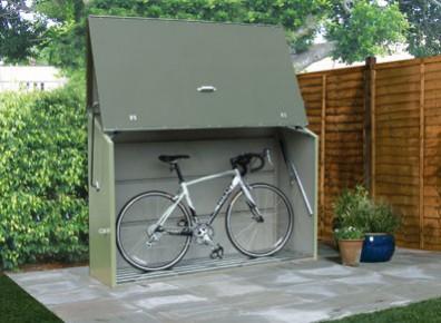 Coffre à vélos métallique