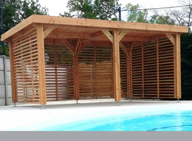 abri poolhouse en bois