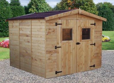 cabane de stockage en bois