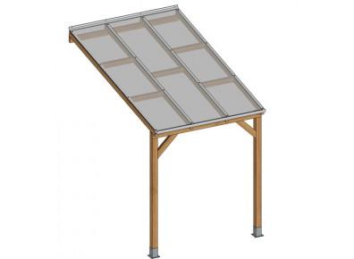 un abri terrasse pas cher en bois il existe des kits. Black Bedroom Furniture Sets. Home Design Ideas