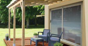 abri terrasse en bois adossable