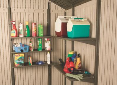 cabane de stockage en résine PVC