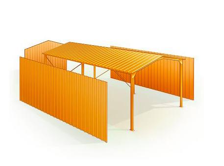 Des dimensions adaptées pour accueillir un camping-car avec ce garage métallique. Du sur-mesure !