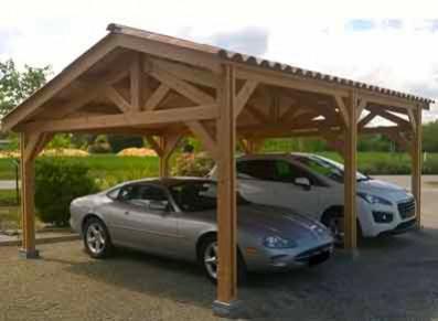 Carport en bois : la solution pour protéger sa voiture en hiver
