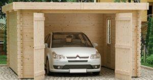 garage voiture en bois grandes dimensions