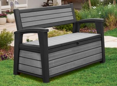 Un coffre banc en polypropylène, le 2 en 1 indispensable pour ranger son jardin