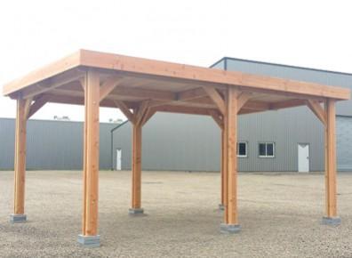 Et pourquoi pas une ossature en bois Douglas pour proposer une solution de parking à vos collaborateurs ?