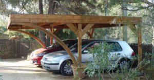 abri carport bois autoclave