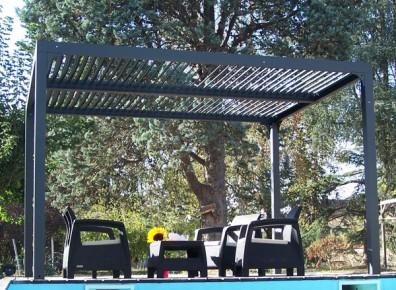 pergola aluminium et bioclimatique