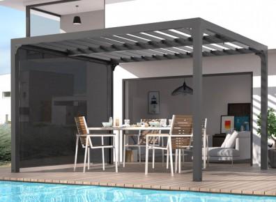 Une pergola bioclimatique en aluminium pour un maximum de confort en extérieur