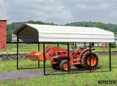 abri métallique pour tracteur agricole