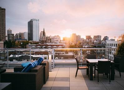 toit terrasse sur un appart en rooftop