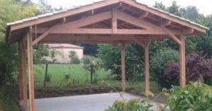 ossature de carport en bois Douglas