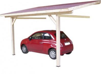 abri voiture en bois traité