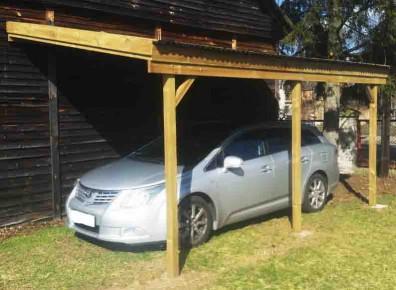 abri voiture bois