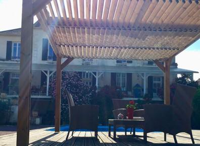 toit terrasse bois thermotraité
