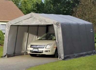 garage en toile de tente