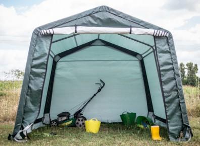 Un garage démontable grâce à un abri tente en toile