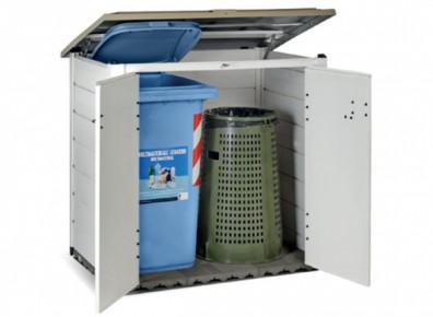 On range, on stocke et on cache... les poubelles avec ce coffre en résine PVC