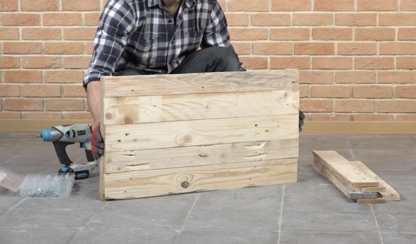 Un coffre de rangement bois en mode DIY !