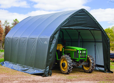Tunnel agricole pour engins et stockage