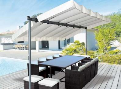 Une pergola métallique pour la terrasse