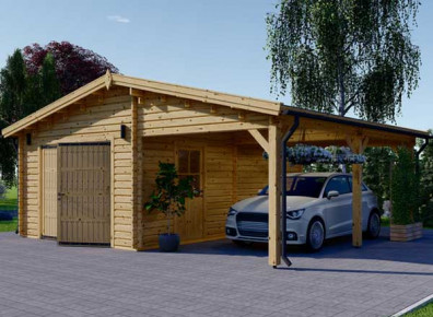 Carport avec garage en kit