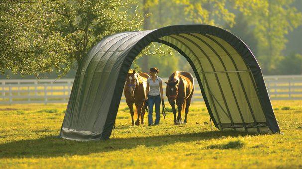 tunnel d'élevage mobile pour les chevaux