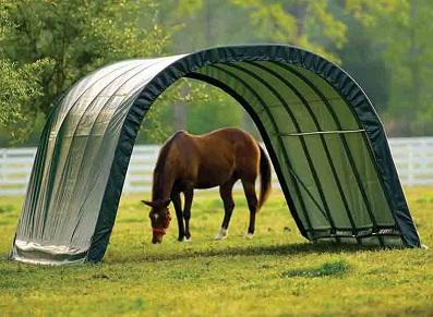 tunnel chevaux d'élevage