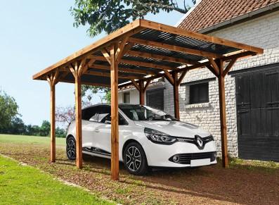 Un carport bois, naturel et chaleureux !