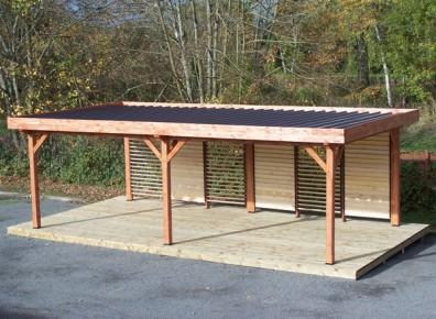 Le bois lamelle collé, un véritable atout résistance pour l'abri terrasse